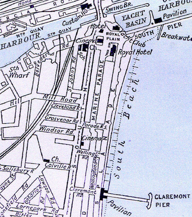 Map Claremont to the bridge